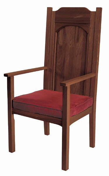 Abbey Collection Celebrant Chair - Walnut Stain