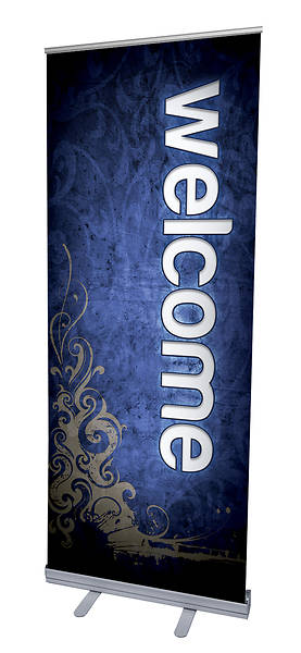 Adornment Welcome RollUp Banner with Stand