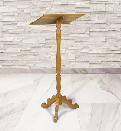 Portable Lectern - Pecan Stain
