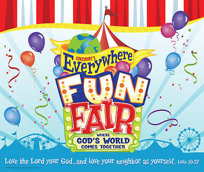 Vacation Bible School 2013 Everywhere Fun Fair Large Logo Poster VBS