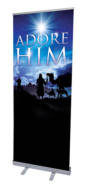 Adore Him Advent RollUp Banner with Stand
