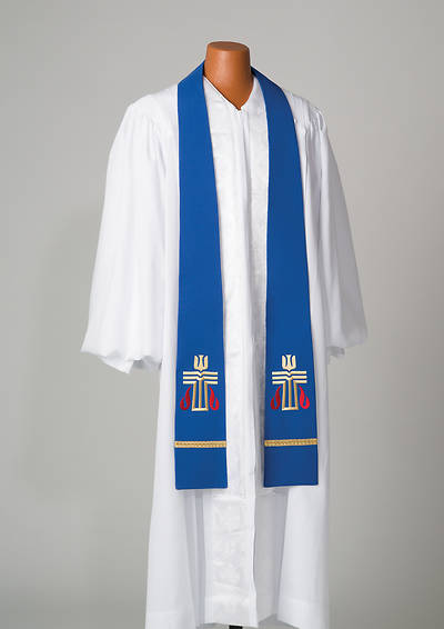 Blue Presbyterian Liberty With Gold Braid Stole