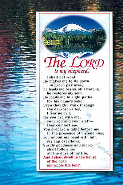 The Lord is My Shepherd Bulletin, Regular Size (Package of 50)