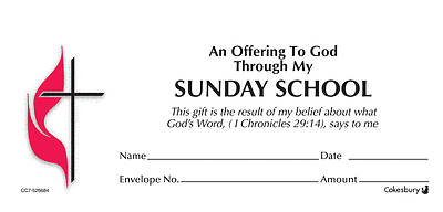 Sunday School UMC Offering Envelope Box Set Currency