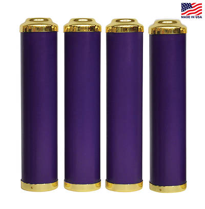 Advent Tube Candle Sleeves - 4 Purple