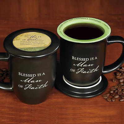 Blessed is a Man of Faith Mug and Coaster Set