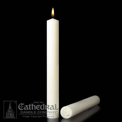 Cathedral 51% Beeswax Table Altar Candles - 3