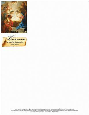 Wonderful Counselor/Christmas Nativity Letterhead 2013 (Package of 50)