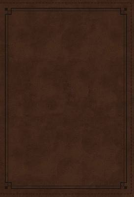 NKJV Study Bible, Imitation Leather, Brown, Red Letter Edition, Indexed, Comfort Print