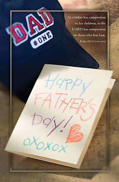Fathers Day Bulletin,Happy Fathers Day, Psalm 103:13, Regular (Package of 100)