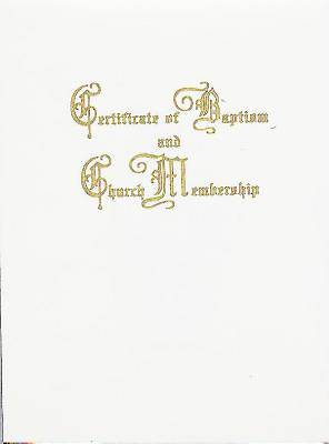 Traditional Steel-Engraved Certificate of Baptism and Church Membership (Pkg of 3)