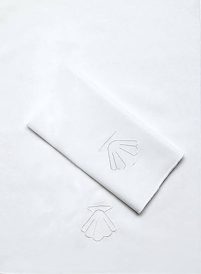 Baptismal Towel with Shell 100% Cotton (Pack of 4)