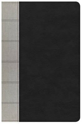 NKJV Large Print Personal Size Reference Bible, Black/Gray Deluxe Leathertouch