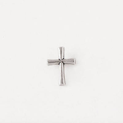 Pewter Lapel Pin - Round Flared Cross