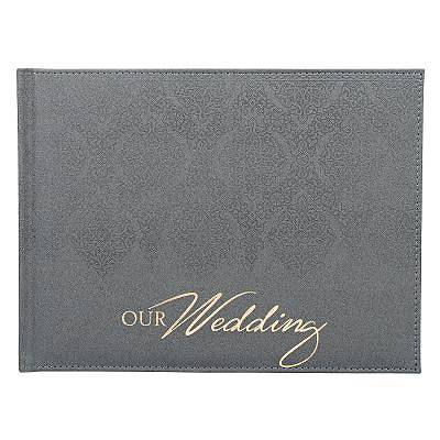 Guest Book Our Wedding Silver