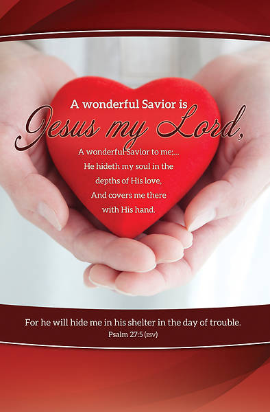 Jesus My Lord Psalm 27:5 Regular Size Bulletin