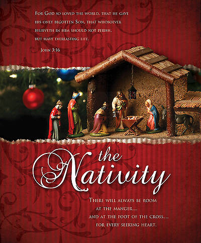 Nativity Bulletin John 3:16 KJV Large (Package of 100)