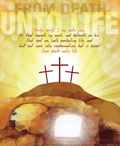 From Death Unto Life Easter Legal Size Bulletin