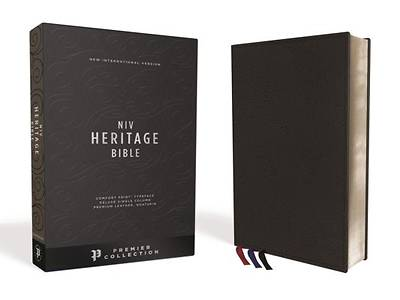 NIV, Heritage Bible, Deluxe Single-Column, Premium Leather, Black Sterling Edition, Comfort Print