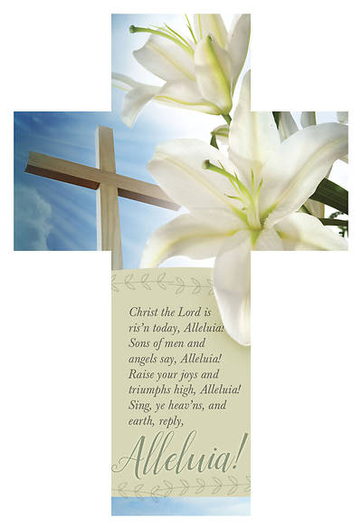 Christ the Lord is Risen Today Cross-Shape Bible Marker