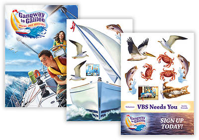 "Concordia VBS 2014 Gangway to Galilee Decorating Posters 43"" X 60"" Set of 3"
