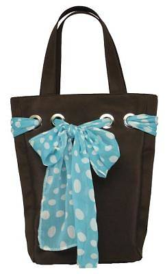 Purse with Bow Capri Cocoa Large Brown/Blue Bible Cover