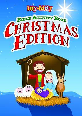 Itty Bitty Bible Activity Book for Kids-Christmas Edition Pkg of 6