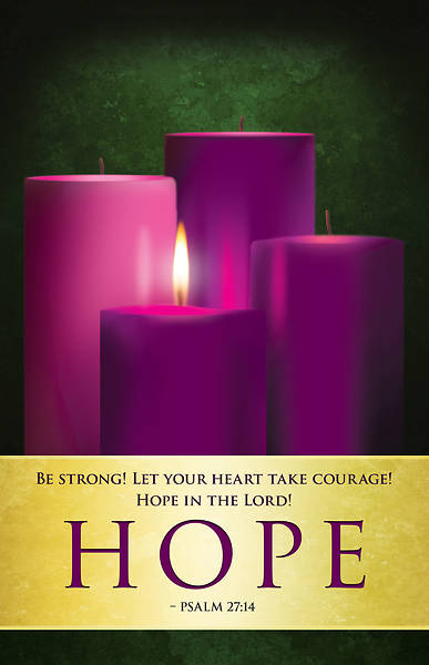 Hope Advent Candles Sunday 1 Bulletin (Pkg of 50)