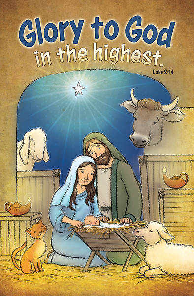 God in High-Kids Christmas Regular Size Bulletin