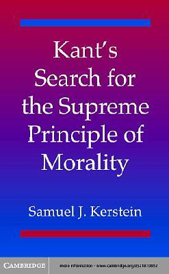 Kants Search for the Supreme Principle of Morality [Adobe Ebook]