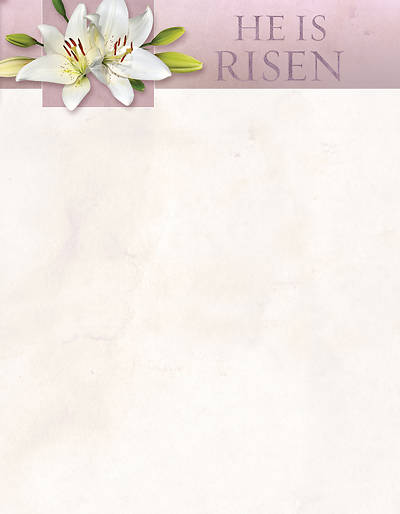 He Is Not Here For He Is Risen Easter Letterhead