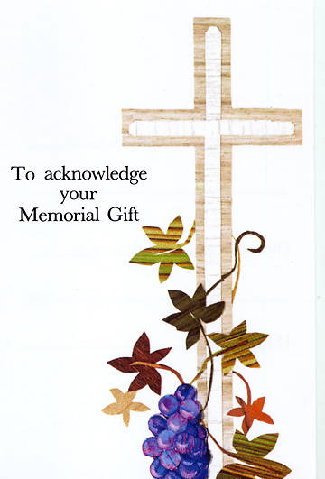Memory Gift Memorial Card (package of 25)