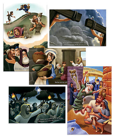 Vacation Bible School (VBS) 2018 Shipwrecked Bible Story Posters - Set of 5
