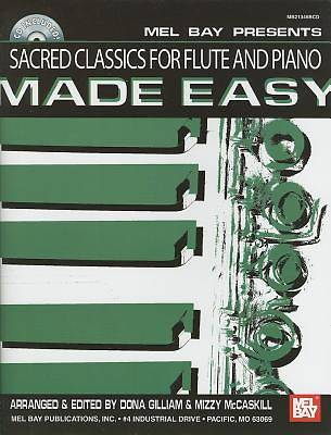 Sacred Classics for Flute and Piano Made Easy With CD (Audio)