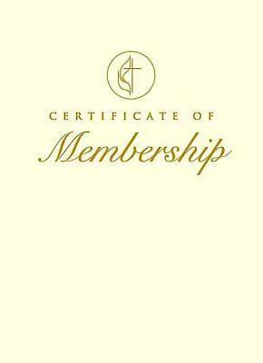 United Methodist Membership Certificate without Service (Package of 3)