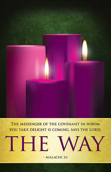 The Way Advent Candles Sunday 2 Bulletin (Pkg of 50)