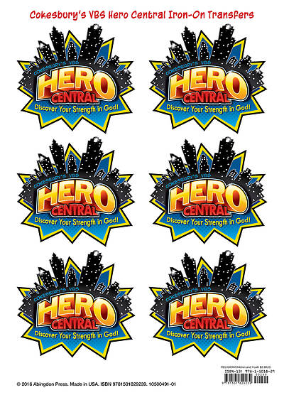 VBS Hero Central Iron-On Transfers (Pkg of 12)