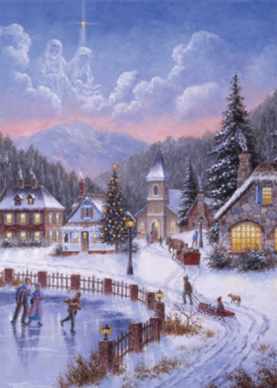 Christmas Village Boxed Cards