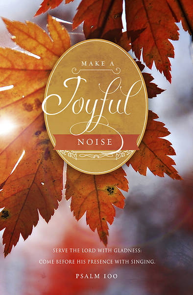 Make A Joyful Noise Thanksgiving Bulletin