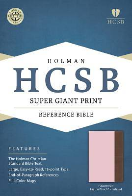 HCSB Super Giant Print Reference Bible, Pink/Brown Leathertouch Indexed