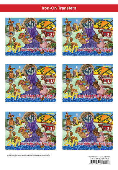 Vacation Bible School (VBS) 2018 24/7 Iron-On Transfers (Pkg of 12)