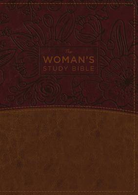 The NKJV, Womans Study Bible, Fully Revised, Imitation Leather, Brown/Burgundy, Full-Color, Indexed