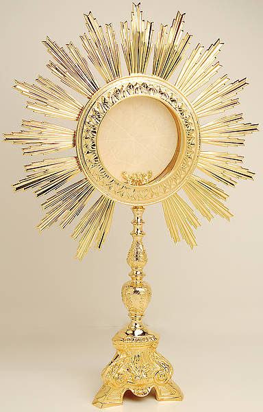 Monstrance  Gold Plated