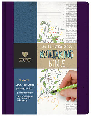 HCSB Illustrators Notetaking Bible, Purple Linen