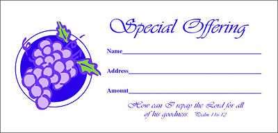 Special Offering Envelope - Psalm 116:12 (NIV)