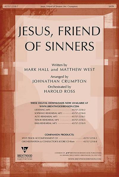 Jesus, Friend of Sinners Orchestration/Conductors Score CD-ROM