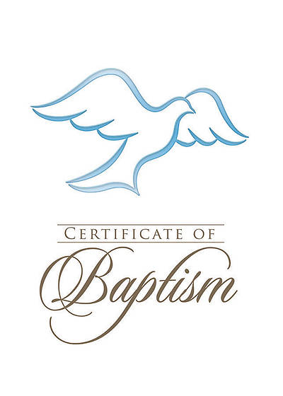 Folded Baptism Certificates with Envelopes | Cokesbury