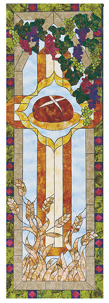 Stained Glass Communion Parament Set Bread Banner 2x6