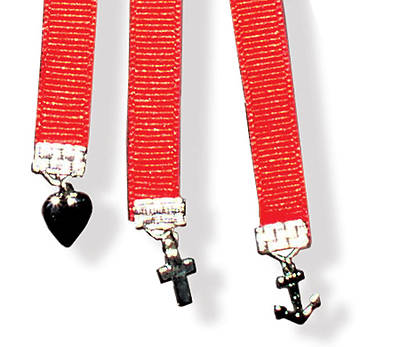 Faith, Hope, and Charity Red Ribbon Bookmark