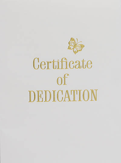 Contemporary Steel-Engraved Baby Dedication Certificate